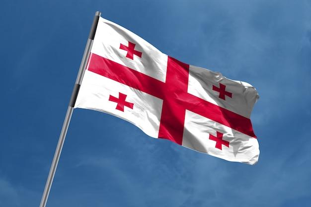 Georgia flag zwaaien