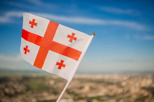 Georgia vlag op sky