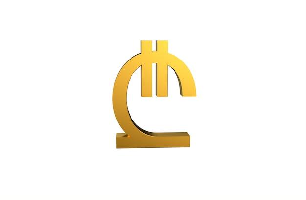 Georgisch lari-valutasymbool in 3d