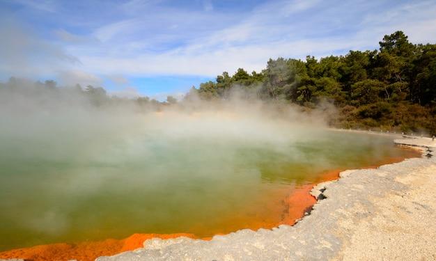 Geothermische energie vulkanische activiteit in nieuw-zeeland