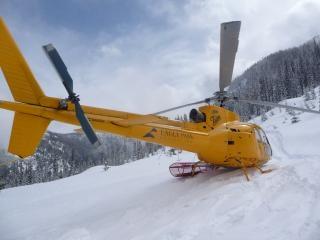 Geparkeerd helikopter