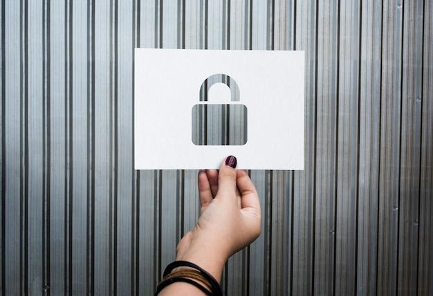 Geperforeerd papieren hangslot voor netwerkbeveiliging