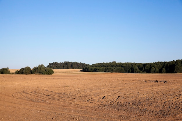 Geploegd landbouwgebied