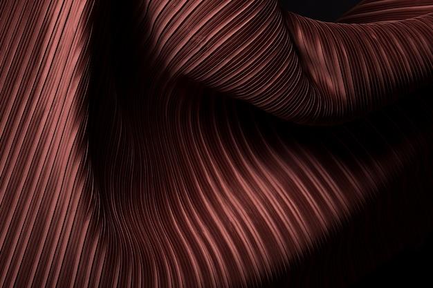 Geplooide stof in lange lijn met schaduw