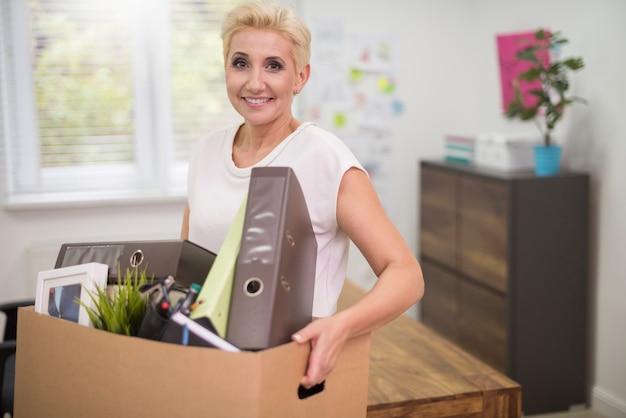Gepromoveerde vrouw klaar om van baan te veranderen