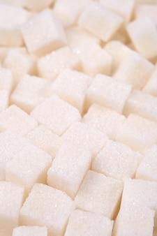 Geraffineerde suiker close-up