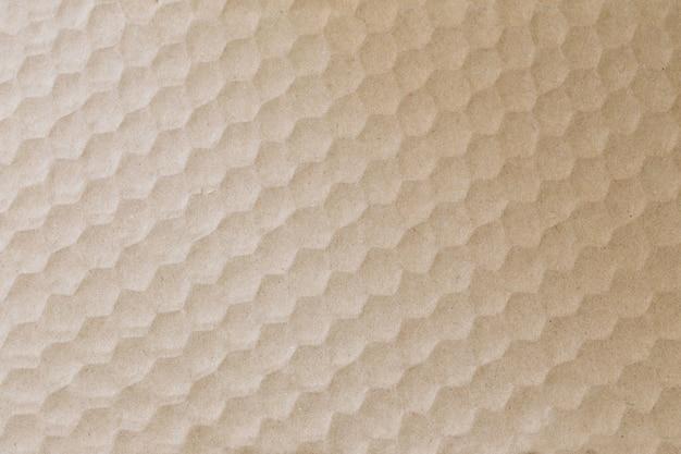 Gerecycleerde verpakking kartonnen textuur met honingraat