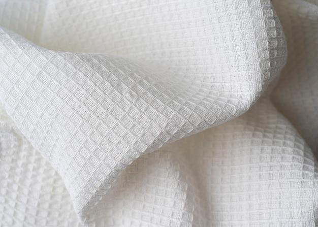 Gerimpelde handgemaakte wafel linnen katoenen servetten stof achtergrond