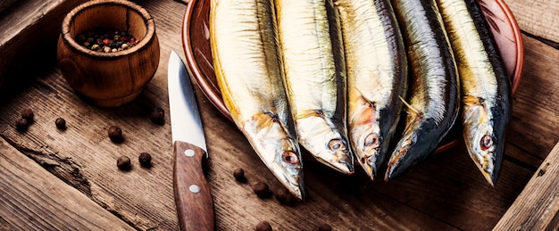 Gerookt sanma of pacific saury