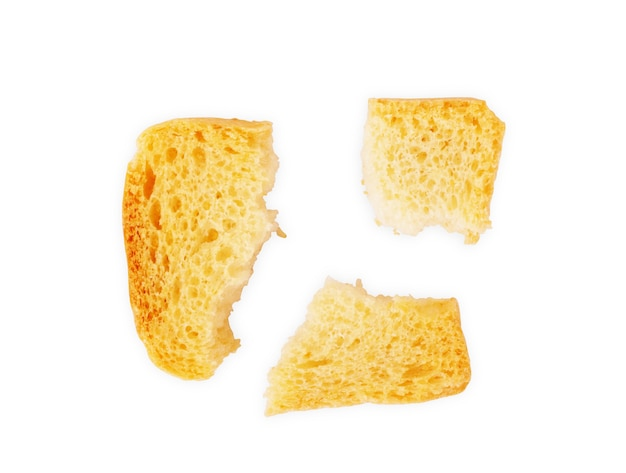 Geroosterd brood italiaanse bruschetta toast geïsoleerd op witte achtergrond