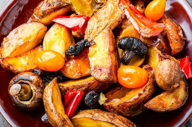 Geroosterde aardappelen met champignons