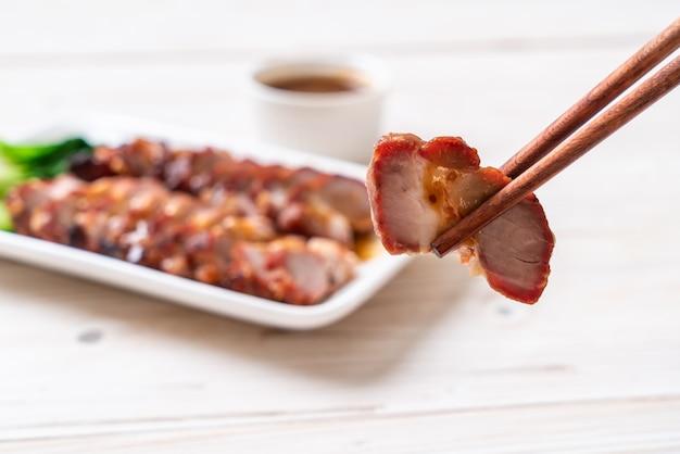 Geroosterde barbecue rood varkensvlees