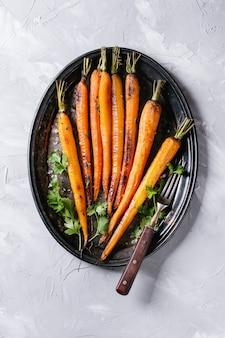 Geroosterde jonge wortel