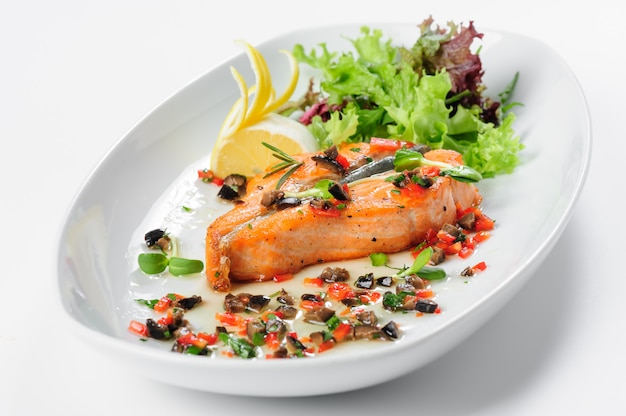 Geroosterde zalm steak