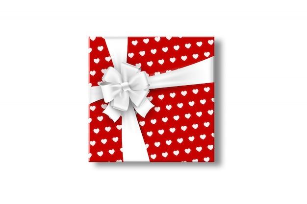 Geschenkdoos met strik. valentijnsdag