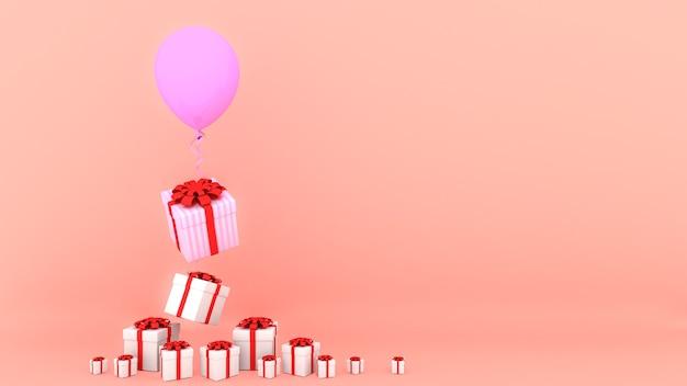Geschenkdozen 3d-rendering