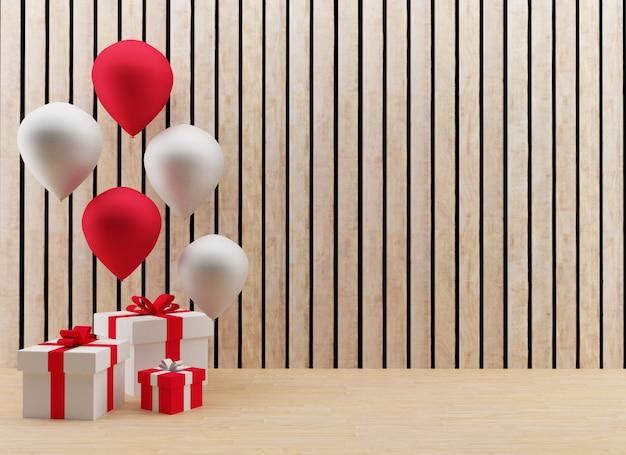 Geschenkdozen met ballonnen