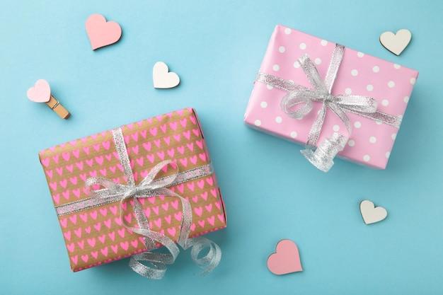 Geschenkdozen met hart. valentijnsdag