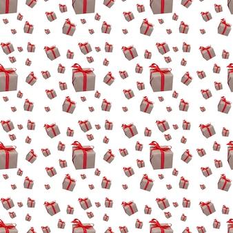 Geschenken patroon patroon naadloos vakantie witte achtergrond