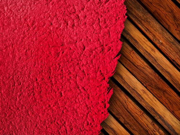 Gescheurd geweven papier met hout patroon achtergrond