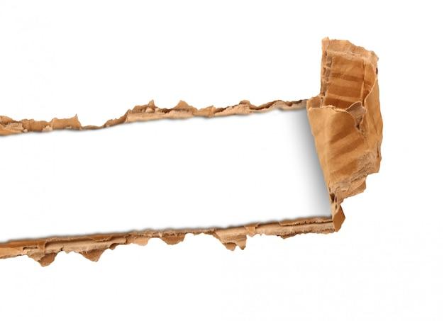 Gescheurd karton