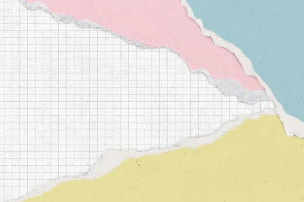Gescheurd papier raster achtergrond pastel handgemaakte ambacht