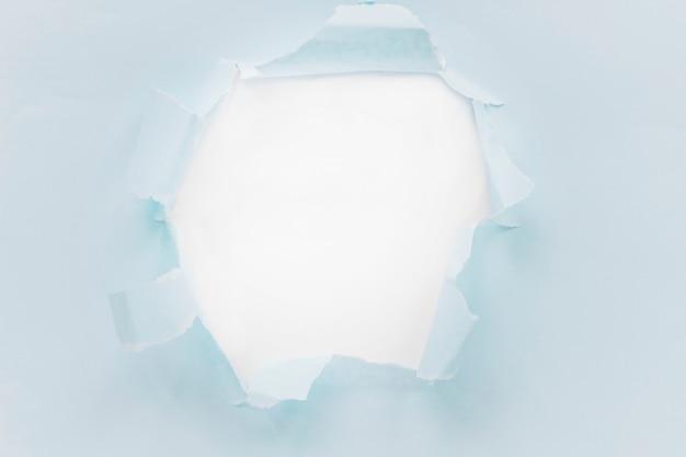 Gescheurde blauwe document textuur