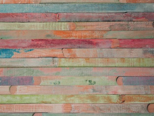 Geschilderd veelkleurig houten oppervlak