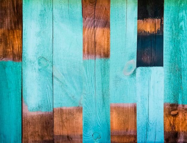 Geschilderde houten geweven plankenachtergrond met delicate vignettering