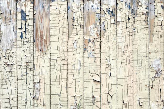 Geschilderde oude houten planken achtergrondstructuur. witte houten muur of verweerde omheining.