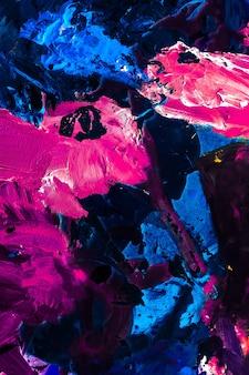 Geschilderde textuur artistieke achtergrond en modern schilderconcept abstracte acrylverf streken kunst penseel flatlay achtergrond
