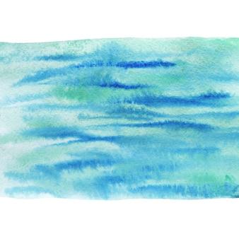 Geschilderde zee achtergrond. aquarel schilderij textuur.