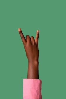 Geslacht vloeibare persoon hand