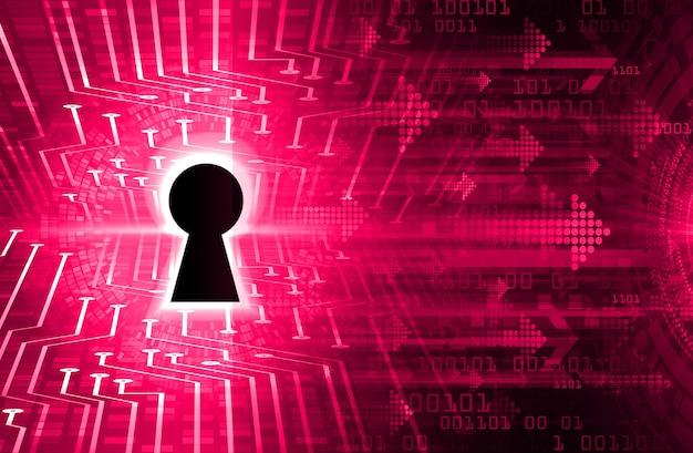 Gesloten hangslot op digitale achtergrond cyberbeveiliging Premium Foto