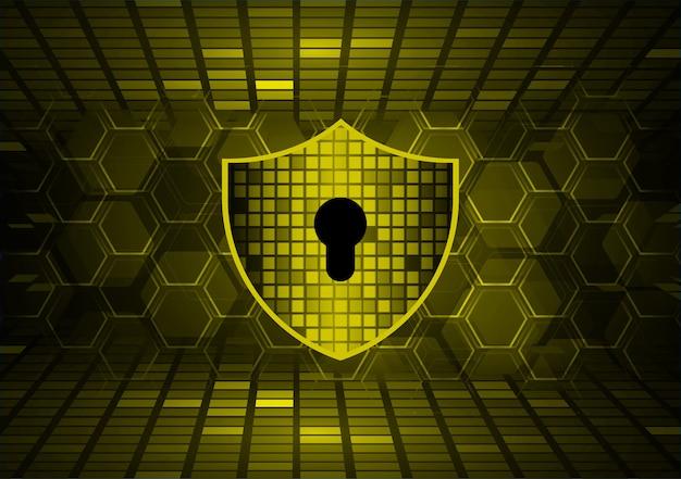 Gesloten hangslot op digitale achtergrond cyberbeveiliging