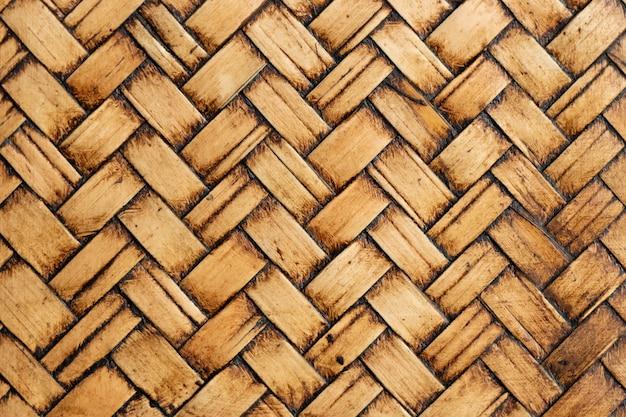 Gesloten omhoog van houten weefsel geweven achtergrond