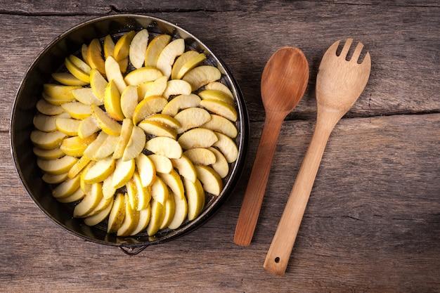 Gesneden appels in de lade