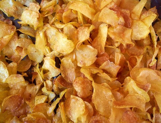 Gesneden gebraden gerechten gebraden aardappels