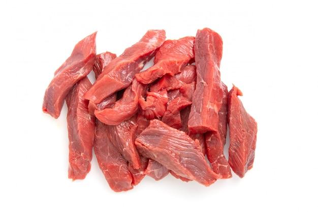Gesneden rauw rundvlees