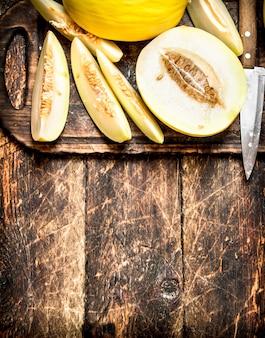 Gesneden verse meloen.