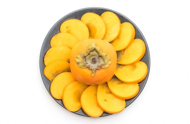Gesneden verse persimmon