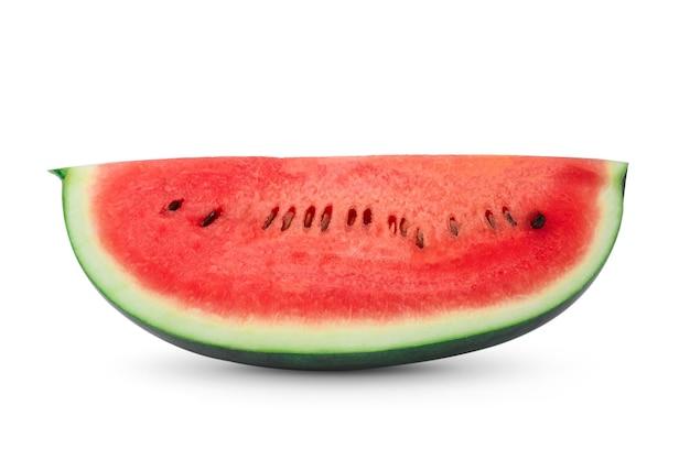 Gesneden watermeloen geïsoleerd op een witte achtergrond