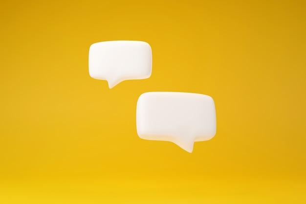 Gesprek met dubbele tekstvak op gele achtergrond