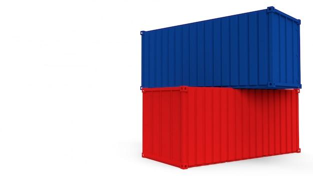 Gestapeld paar containers