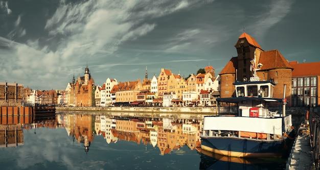 Gestemd stadsbeeld van gdansk