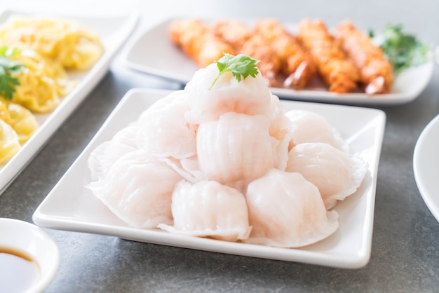 Gestoomde garnalen dumplings dim sum