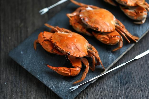 Gestoomde krabben