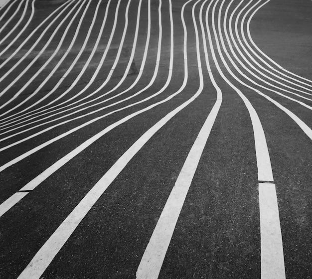 Gestreept asfaltpatroon