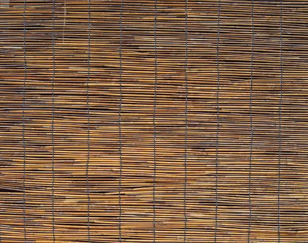 Gestreepte geweven bamboe achtergrond