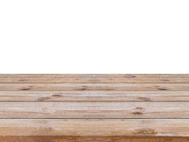 Gestreepte houten bruin op witte achtergrond. montage van uw product